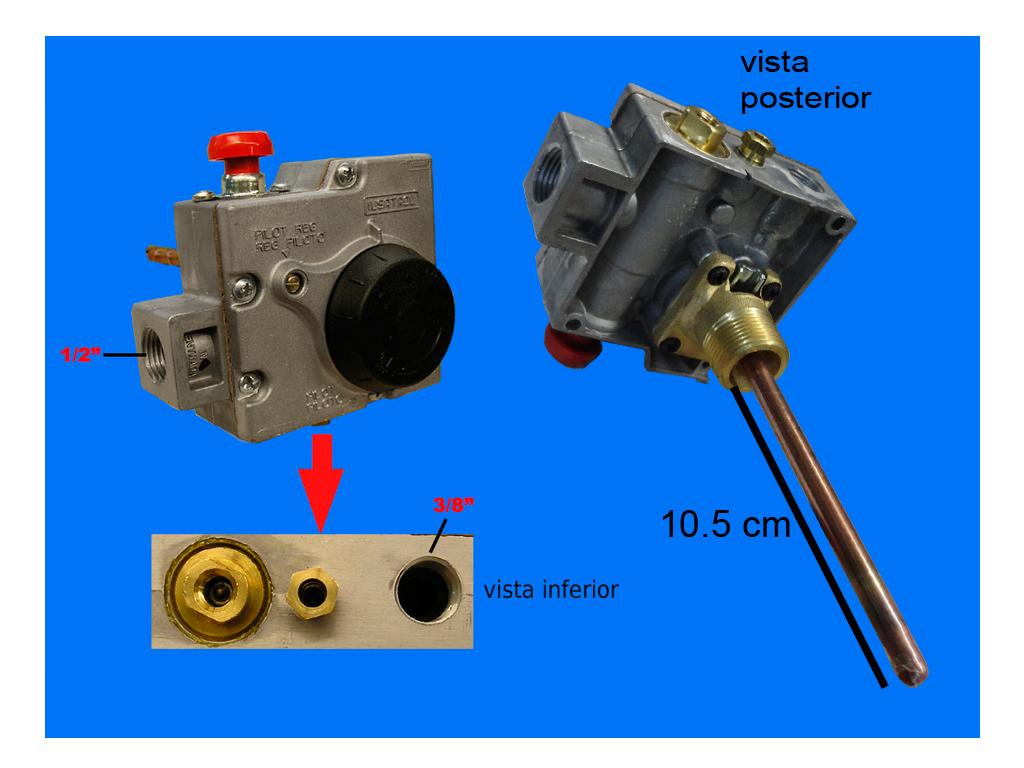 Denek termostato boiler iusatrol universal 007553 for Termostato agua
